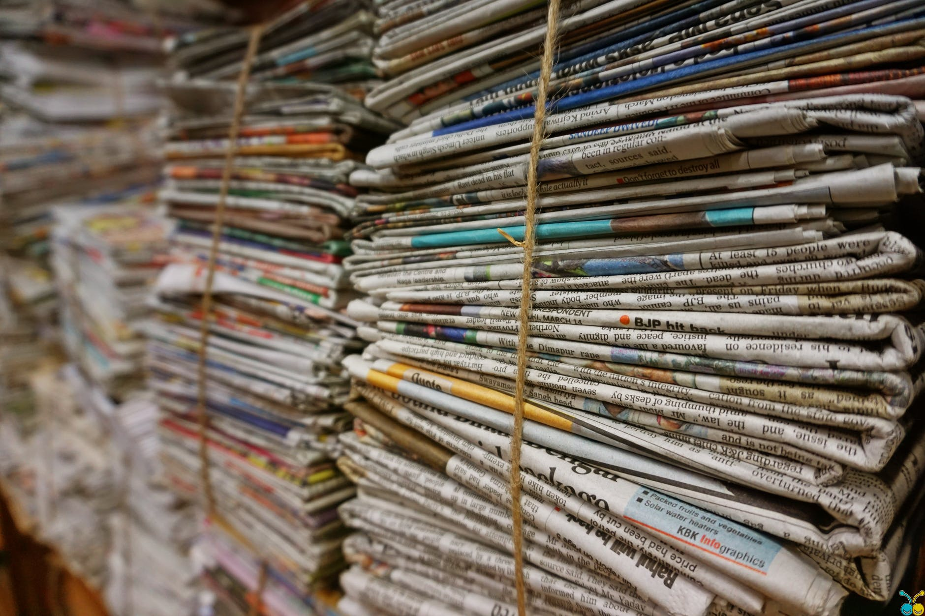 shallow focus photography of magazines